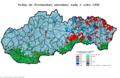 Slovensko parlamentné voľby 1992 obce.png