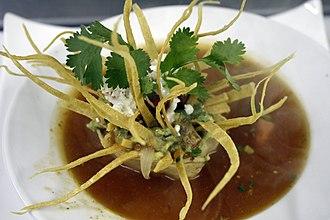 Tortilla soup - Sopa de tortilla