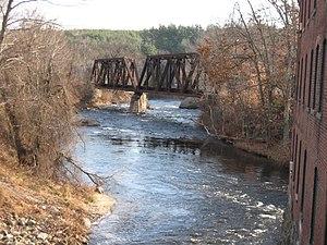 Souhegan River - The Souhegan River in Wilton, NH