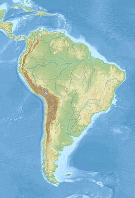 Location map South America