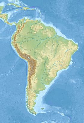 ver no mapa de América do Sul