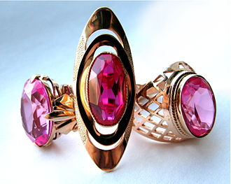 Collectable - Collectible Soviet gold rings with rubies