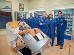 Soyuz TMA-06M prime and backup crews at the Korolev Museum.jpg
