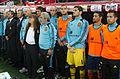 Spain - Chile - 10-09-2013 - Geneva - Staff, Mario Suarez, Iker Casillas, Jesus Navas and Jordi Alba.jpg