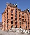 Speicherstadt (Hamburg-HafenCity).Block P.Fleetseite.Kannengießerortbrücke.ajb.jpg