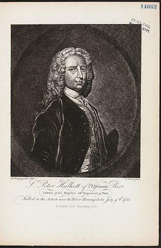 Sir Peter Halkett, 2nd Baronet - Sir Peter Halkett