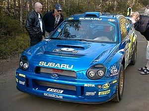 Richard Burns - Burns at the 2001 Rally Finland.