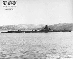 SS-206 Gar, c. 1943 off Mare Island
