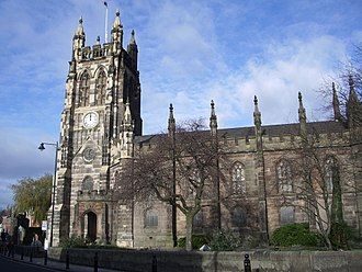 Listed buildings in Stockport - Image: St Mary's parish church in Stockport
