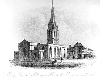 St Mary's Church, Lichfield - St Mary's during its transitional phase in 1860