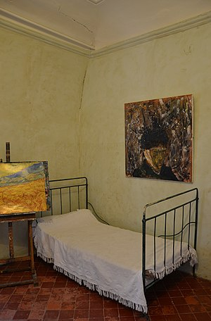 Saint-Paul Asylum, Saint-Rémy (Van Gogh series) - Van Gogh's room in Saint Paul de Maussole