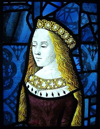 Cecily of York - Cecily in stained glass, probably 1482–83, formerly Canterbury Cathedral, now Burrell Collection