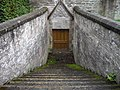 Stairway to Tomb under Chapel on Moot Hill - geograph.org.uk - 1584556.jpg