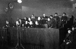 Stalinist show trial of the Kraków Curia - Image: Stalinizm proces Kurii Krakowskiej (1953)