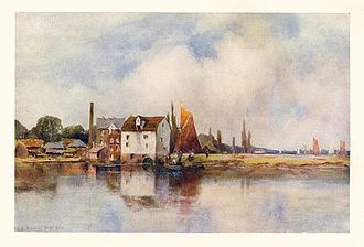 Louis Burleigh Bruhl - Stambridge Mill viewed from the Fleet, 1909