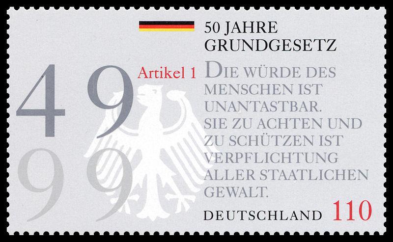 File:Stamp Germany 1999 MiNr2050 Grundgesetz.jpg