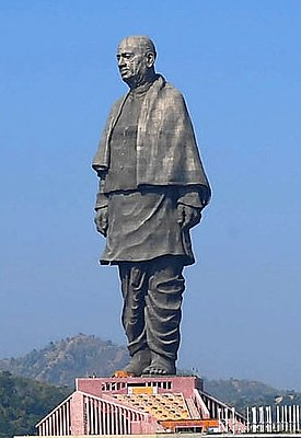 Statue of Unity, as dedicated on October 31, 2018 (cropped).jpg