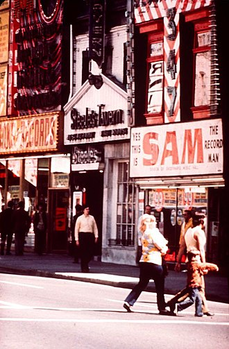 Sam the Record Man - Store without the sign next to Steeles Tavern