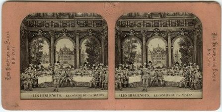 Stereokort, Les Huguenots 1, Le convive de Comte de Nevers - SMV - S50a.tif