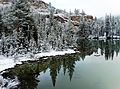 Still Waters, Fresh Snow, Yosemite NP 5-15 (26006433421).jpg