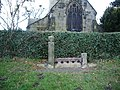 Stocks, near by St Oswald's Church, Leathley - geograph.org.uk - 723197.jpg