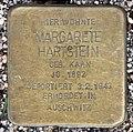 Stolperstein Bartningallee 7 (Hansa) Margarete Hartstein.jpg