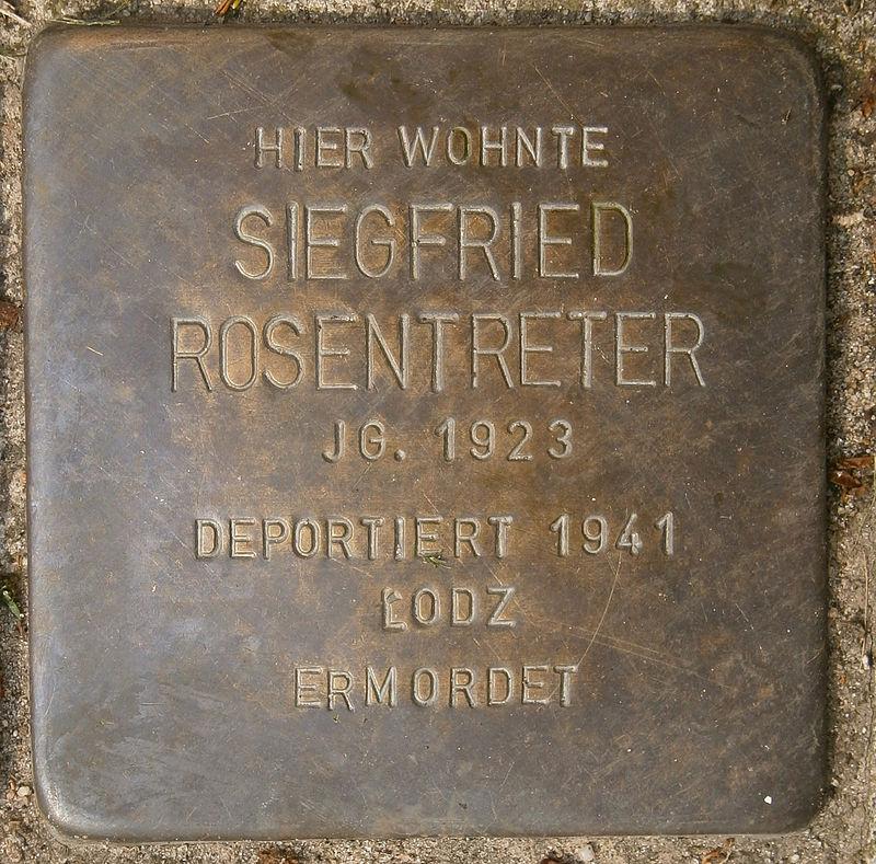 Stolperstein Behnstraße 17 (Siegfried Rosentreter) in Hamburg-Altona-Altstadt.JPG