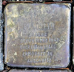 Photo of Lina Bendheim brass plaque