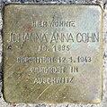 Stolperstein Droysenstr 18 (Charl) Johanna Anna Cohn.jpg
