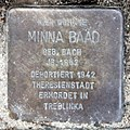 Stolperstein Gneiststr 8 (Grune) Minna Baad.jpg