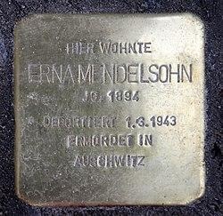 Photo of Erna Mendelsohn brass plaque