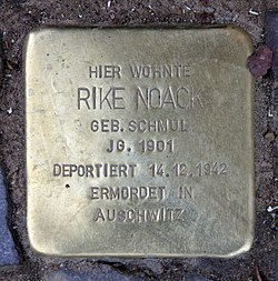 Photo of Rike Noack brass plaque