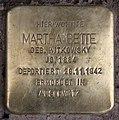 Stolperstein Westfälische Str 37 (Halsee) Martha Bette.jpg