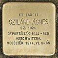 Stolperstein für Agnes Szilard (Nyíregyháza).jpg