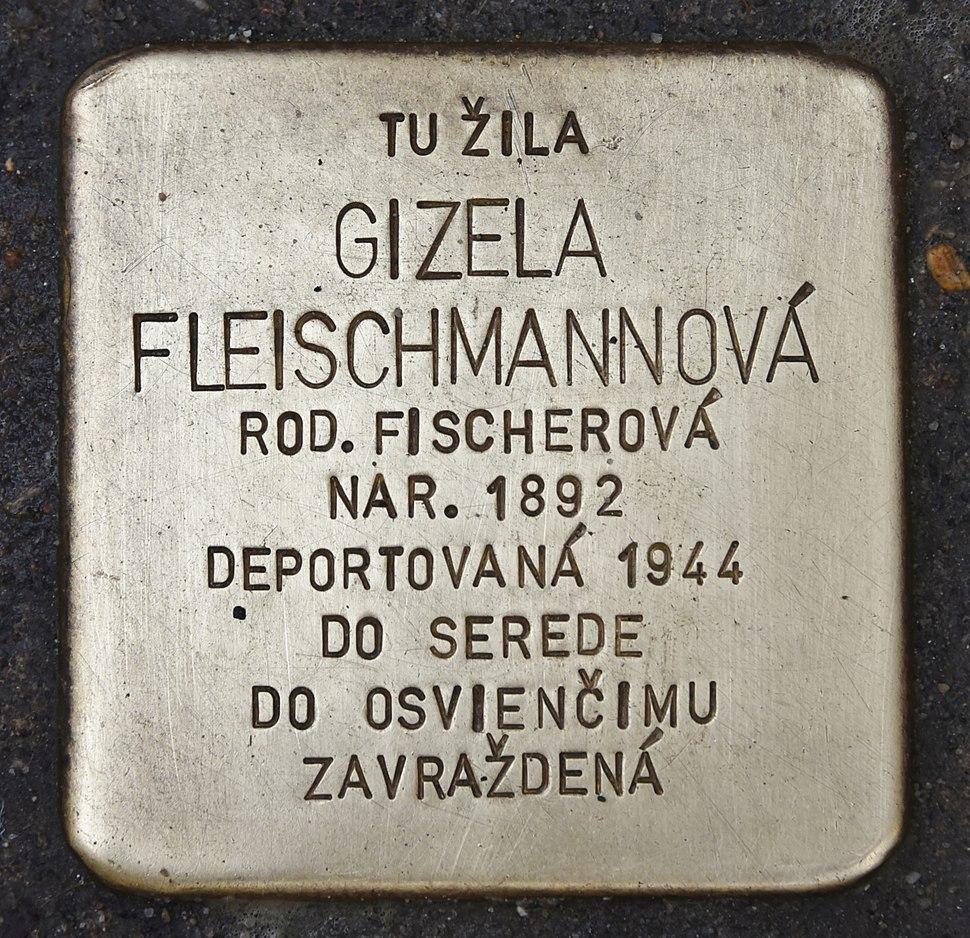 Stolperstein für Gizela Fleischmannova