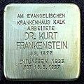 Stolpersteine Köln, Dr. Kurt Frankenstein (Buchforststraße 2).jpg