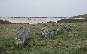 Stone Circle with modern china clay works. - geograph.org.uk - 418770.jpg