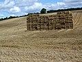 Straw stack, Croucheston Farm - geograph.org.uk - 1462995.jpg