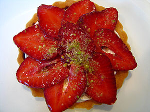 Tart - Image: Strawberry tart by Kirti Poddar