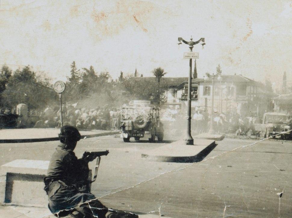 Street riot in Nicosia 1956