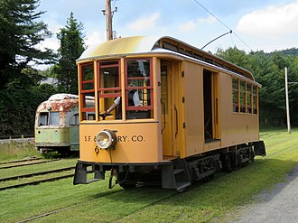 Wason Manufacturing Company - A surviving example of a Wason tram, at the Shelburne Falls Trolley Museum