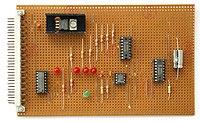 Univerzální deska plošných spojů -- strana součástek