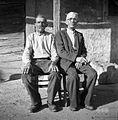 Stric in nečak Ivan in Jožef Juriševič, Markovščina 1955.jpg