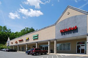 A strip mall in Wynantskill, New York, United ...