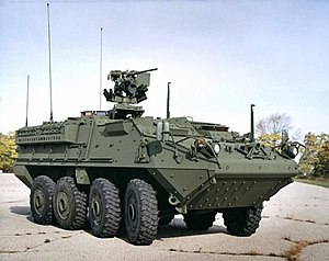 Vehicle on M1126 Stryker Icv Type Armored Fighting Vehicle Place Of Origin