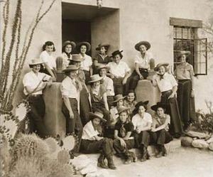 Ranch school - Image: Students Of The Hacienda del Sol School Tucson Arizona 1930s