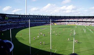 Subiaco Oval - Subiaco Oval from the three tier stand during a football game