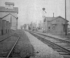 Sublette, Illinois - Sublette train depot (right side)