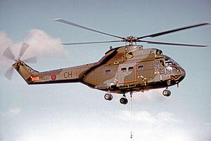No. 33 Squadron RAF - Puma HC.1 of No. 33 Squadron in 1972