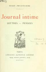 Sully Prudhomme - Journal intime, 1922.djvu
